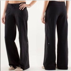 LULULEMON Black Still Grounded Wide Leg Pant NWOT!